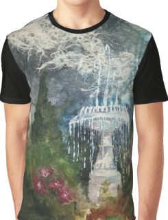 Plaza Park Fountain - Orange, CA Graphic T-Shirt