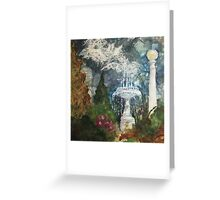 Plaza Park Fountain - Orange, CA Greeting Card