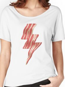 powered by bacon Women's Relaxed Fit T-Shirt