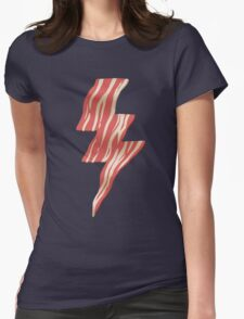 powered by bacon Womens Fitted T-Shirt