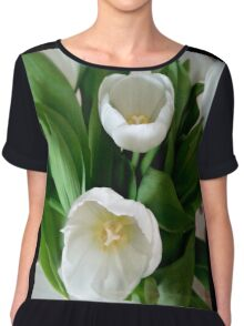 White Tulips Chiffon Top