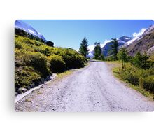 Road in the Alps Canvas Print