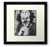 Patof le roi des clowns Framed Print