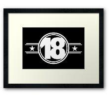 Eighteen Stars Framed Print