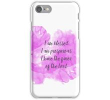Blessed and Prosperous - Devotional Notebooks and Mugs iPhone Case/Skin