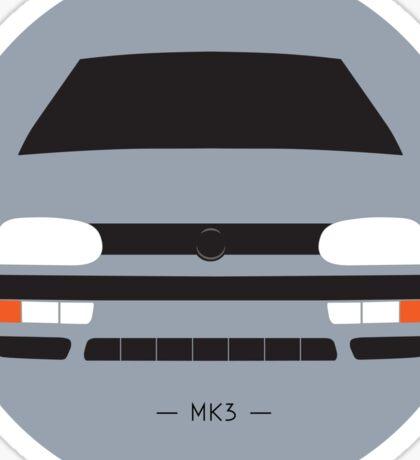MK3 simple front end design Sticker
