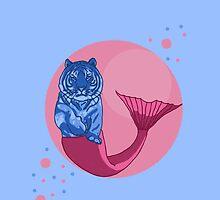 tiger mermaid by FandomizedRose
