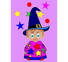 A Boy Wizard  – No6d in the Toon Boy series Photographic Print