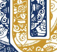 Quinnipiac University Doodle Sticker