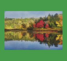 Reflecting on Fall - Autumn Lake Impressions Kids Tee