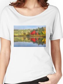 Reflecting on Fall - Autumn Lake Impressions Women's Relaxed Fit T-Shirt