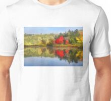 Reflecting on Fall - Autumn Lake Impressions Unisex T-Shirt