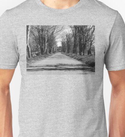 Gravel Road in Trees Unisex T-Shirt