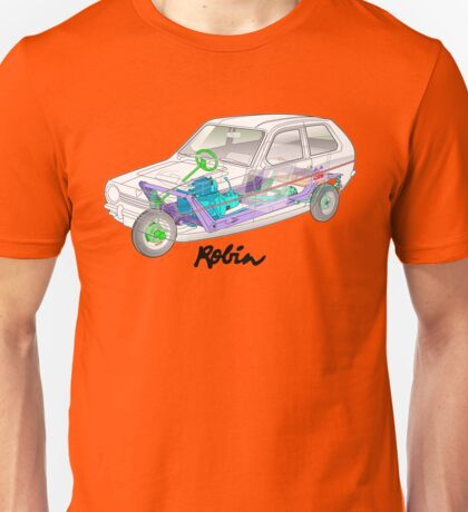 Reliant Robin cut-away (ghost view) Unisex T-Shirt