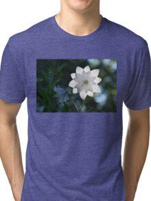 White Platycodon Star Tri-blend T-Shirt