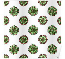 seamless colorful doodle floral pattern Poster