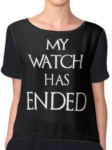 Jon Snow My Watch has ended Chiffon Top