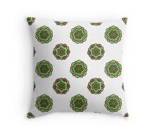 seamless colorful doodle floral pattern Throw Pillow