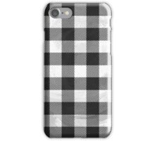 Checkered Plaid Black And White  iPhone Case/Skin