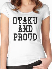 Otaku and Proud Women's Fitted Scoop T-Shirt