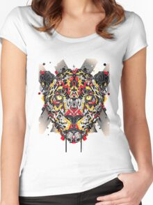 animal art Women's Fitted Scoop T-Shirt