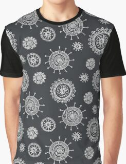 cute seamless doodle floral pattern Graphic T-Shirt