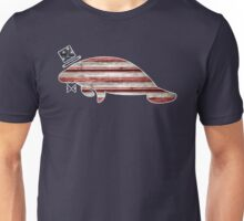 Patriotic, American Flag Manatee  Unisex T-Shirt