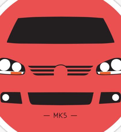 MK5 simple front end design Sticker