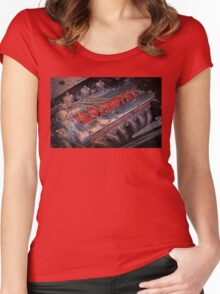 Retro urban auto engine. Women's Fitted Scoop T-Shirt