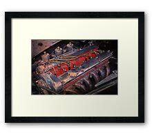 Retro urban auto engine. Framed Print