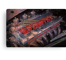 Retro urban auto engine. Canvas Print