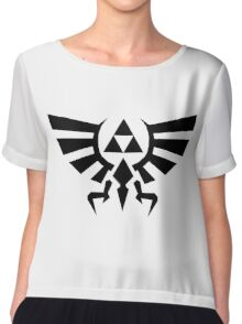 Zelda - The Wingcrest Black Women's Chiffon Top