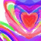 Vivid Abstract with Love Heart by Sarah Countiss
