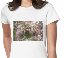 Blossoms and Buds - Springtime Apple Tree Womens Fitted T-Shirt