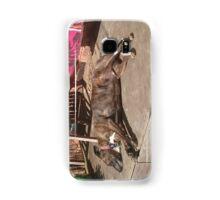 Sleeping staffy Samsung Galaxy Case/Skin