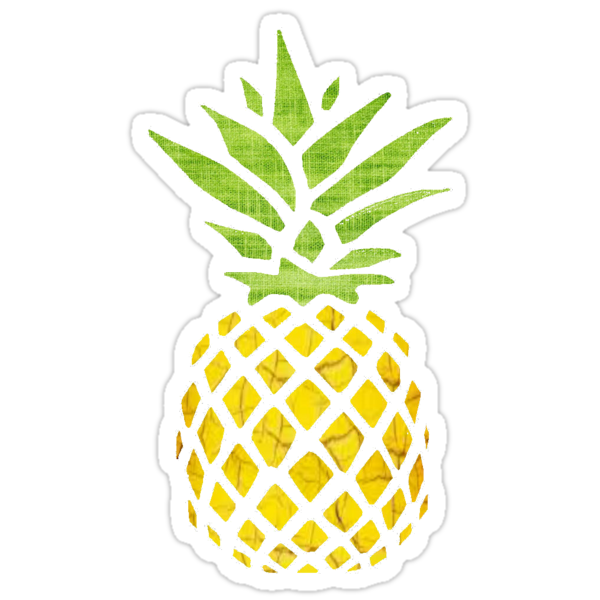pineapple stickers by sallypeep redbubble. Black Bedroom Furniture Sets. Home Design Ideas