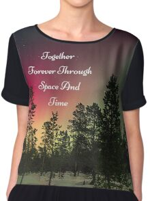 Doctor Who- Together Forever Through Space And Time Chiffon Top