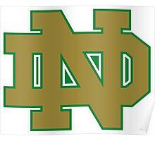 Green and Gold Fighting Irish Logo Poster