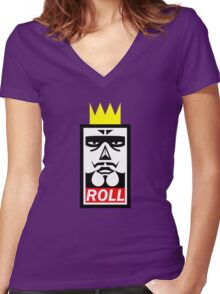 ROLL Women's Fitted V-Neck T-Shirt