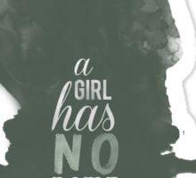 A girl has no name Sticker