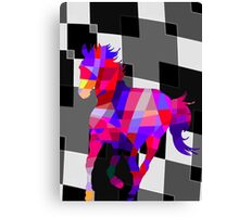 Cool Horse Vector Colors T-Shirt Prints and Stickers Canvas Print