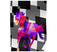 Cool Horse Vector Colors T-Shirt Prints and Stickers Poster