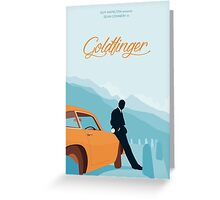 Goldfinger - Blue Greeting Card