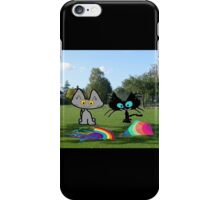 Cats With Colorful Kites iPhone Case/Skin