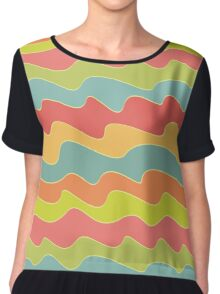 Funny colorful wave pattern Chiffon Top