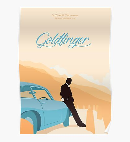 Goldfinger - Orange Poster