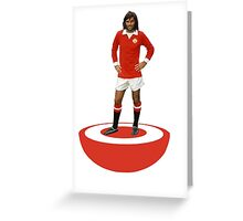GEORGE BEST MANCHESTER UNITED FC SUBBUTEO Greeting Card