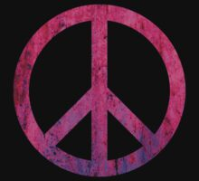 Peace Sign - Grunge Texture with Scratches One Piece - Short Sleeve