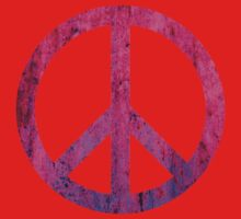 Peace Sign - Grunge Texture with Scratches Baby Tee