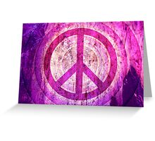 Peace Sign - Grunge Texture with Scratches Greeting Card